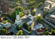Купить «Вид сверху на Борисоглебский Собор, Рязань», фото № 28843161, снято 27 мая 2018 г. (c) Инна Грязнова / Фотобанк Лори