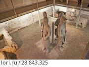 Купить «Четыре статуи каменных стражников. В башне Беффруа, на пощади Sint-Baafsplein.  Гент. Бельгия», эксклюзивное фото № 28843325, снято 6 мая 2018 г. (c) Сергей Афанасьев / Фотобанк Лори
