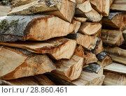Купить «Поленница дров», эксклюзивное фото № 28860461, снято 5 июня 2018 г. (c) Игорь Низов / Фотобанк Лори