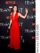 Купить «Marvel's 'Iron Fist' New York Screening at AMC Empire 25 Times Square - Red Carpet Arrivals Featuring: Jessica Henwick Where: New York, New York, United...», фото № 28863685, снято 16 марта 2017 г. (c) age Fotostock / Фотобанк Лори