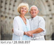 Купить «loving mature spouses enjoying walk», фото № 28868897, снято 20 сентября 2018 г. (c) Яков Филимонов / Фотобанк Лори