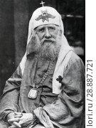 Тихон, патриарх Московский. (Василий Иванович Беллавин) 1865 - 1925. Стоковое фото, фотограф Retro / Фотобанк Лори