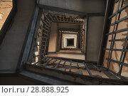 Купить «Antique old stairs in a building», фото № 28888925, снято 29 июля 2018 г. (c) Александр Лычагин / Фотобанк Лори