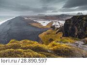 Icelandic empty coastal landscape, Vik (2017 год). Стоковое фото, фотограф EugeneSergeev / Фотобанк Лори