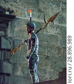Купить «Film crew and stuntmen prepare for the filming of the upcoming movie 'Avengers: Infinity War' on the Royal Mile in Edinburgh Featuring: Stuntman Where...», фото № 28896989, снято 31 марта 2017 г. (c) age Fotostock / Фотобанк Лори