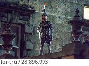 Купить «Film crew and stuntmen prepare for the filming of the upcoming movie 'Avengers: Infinity War' on the Royal Mile in Edinburgh Featuring: Stuntman Where...», фото № 28896993, снято 31 марта 2017 г. (c) age Fotostock / Фотобанк Лори