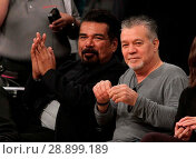 Купить «Celebrities watch the Los Angeles Lakers Featuring: George Lopez, Eddie Van Halen Where: Los Angeles, California, United States When: 02 Apr 2017 Credit: WENN.com», фото № 28899189, снято 2 апреля 2017 г. (c) age Fotostock / Фотобанк Лори