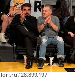 Купить «Celebrities watch the Los Angeles Lakers Featuring: George Lopez, Eddie Van Halen Where: Los Angeles, California, United States When: 02 Apr 2017 Credit: WENN.com», фото № 28899197, снято 2 апреля 2017 г. (c) age Fotostock / Фотобанк Лори