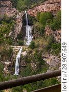 Купить «Sant Miquel del Fai with water cascades», фото № 28907649, снято 5 мая 2018 г. (c) Яков Филимонов / Фотобанк Лори