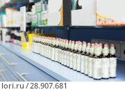 Купить «Medicines that lie in the cupboards on the shelves in pharmacy», фото № 28907681, снято 26 марта 2018 г. (c) Яков Филимонов / Фотобанк Лори