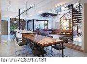 Купить «Luxury modern loft», фото № 28917181, снято 15 августа 2018 г. (c) Виктор Застольский / Фотобанк Лори