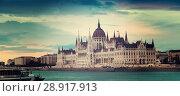 Купить «Parliament of Budapest», фото № 28917913, снято 19 октября 2019 г. (c) Яков Филимонов / Фотобанк Лори