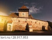 Купить «Image of Church Fortification in Axente Sever», фото № 28917953, снято 17 сентября 2017 г. (c) Яков Филимонов / Фотобанк Лори