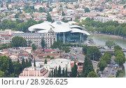 Купить «Исторический центр Тбилиси. Вид с крепости Нарикала», фото № 28926625, снято 8 августа 2013 г. (c) Олег Хархан / Фотобанк Лори