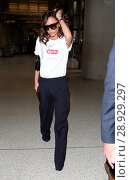 Купить «Victoria Beckham arrives at Los Angeles International (LAX) Airport Featuring: Victoria Beckham Where: Los Angeles, California, United States When: 17 Apr 2017 Credit: WENN.com», фото № 28929297, снято 17 апреля 2017 г. (c) age Fotostock / Фотобанк Лори