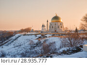 Купить «Bolgar Historical and Archaeological Complex, Russia. View of complex in winter at dawn», фото № 28935777, снято 6 января 2018 г. (c) Юлия Бабкина / Фотобанк Лори