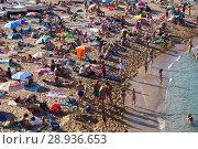 Купить «Beach of Tossa de Mar», фото № 28936653, снято 17 августа 2017 г. (c) Яков Филимонов / Фотобанк Лори