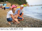 Купить «Children bathe in the sea», фото № 28937113, снято 6 июля 2018 г. (c) Типляшина Евгения / Фотобанк Лори