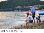 Купить «Children bathe in the sea», фото № 28937121, снято 6 июля 2018 г. (c) Типляшина Евгения / Фотобанк Лори