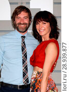 Mark Duplass, Katie Aselton in attendance for Breeders' Cup World Championships _ SAT, Santa Anita Park, Arcadia, CA November 5, 2016. Photo By: Priscilla Grant/Everett Collection. Редакционное фото, фотограф Priscilla Grant/Everett Collection / age Fotostock / Фотобанк Лори
