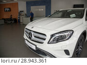 Купить «Issued Mercedes GLA in the Mercedes salon», фото № 28943361, снято 22 августа 2016 г. (c) Caro Photoagency / Фотобанк Лори