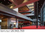 Купить «Entrance area at Messe Frankfurt», фото № 28943769, снято 11 февраля 2017 г. (c) Caro Photoagency / Фотобанк Лори