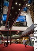Купить «Entrance area at Messe Frankfurt», фото № 28943789, снято 12 февраля 2017 г. (c) Caro Photoagency / Фотобанк Лори