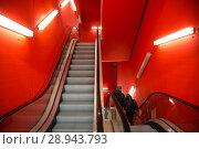 Купить «Escalator in a parking garage of the Frankfurt Messe», фото № 28943793, снято 12 февраля 2017 г. (c) Caro Photoagency / Фотобанк Лори
