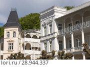 Sellin, Germany, houses in the typical Baederarchitektur (2007 год). Редакционное фото, агентство Caro Photoagency / Фотобанк Лори
