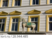 Sassnitz, Germany, detail of the Parkhotel del Mar (2007 год). Редакционное фото, агентство Caro Photoagency / Фотобанк Лори