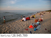 Купить «Poland, Pomerania - Krynica Morska on the Fresh Spit (Baltic Sea)», фото № 28945789, снято 26 августа 2015 г. (c) Caro Photoagency / Фотобанк Лори