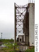 Poland, Pomerania - ruined building of nuclear power plant Zarnowiec (2015 год). Редакционное фото, агентство Caro Photoagency / Фотобанк Лори