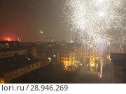 Купить «Berlin, Germany, New Year's Eve 2016 on a roof in Berlin-Prenzlauer Berg», фото № 28946269, снято 1 января 2016 г. (c) Caro Photoagency / Фотобанк Лори