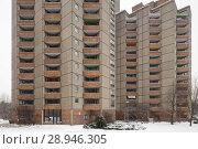 Купить «Berlin, Germany, monument protected housing estate Ernst-Thaelmann-Park in Berlin-Prenzlauer Berg», фото № 28946305, снято 6 января 2016 г. (c) Caro Photoagency / Фотобанк Лори