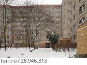 Купить «Berlin, Germany, monument protected housing estate Ernst-Thaelmann-Park in Berlin-Prenzlauer Berg», фото № 28946313, снято 6 января 2016 г. (c) Caro Photoagency / Фотобанк Лори