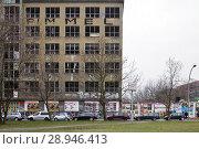 Купить «Berlin, Germany, ruin at Stralauer Platz in Berlin-Mitte», фото № 28946413, снято 13 марта 2016 г. (c) Caro Photoagency / Фотобанк Лори