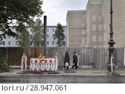 Berlin, Germany, demolition of the Polish Embassy Unter den Linden in Berlin-Mitte (2016 год). Редакционное фото, агентство Caro Photoagency / Фотобанк Лори