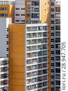 Berlin, Germany, detail view of the facade of a skyscraper in Berlin-Kreuzberg (2017 год). Редакционное фото, агентство Caro Photoagency / Фотобанк Лори