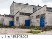 Купить «Szczecin, Poland, factory buildings in the harbor», фото № 28948005, снято 13 июля 2017 г. (c) Caro Photoagency / Фотобанк Лори
