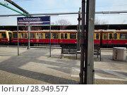 Купить «Berlin, Germany - View of the platform for commuter trains at Berlin-Schoeneweide station.», фото № 28949577, снято 15 февраля 2018 г. (c) Caro Photoagency / Фотобанк Лори