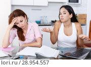 Mother upset about her daughter. Стоковое фото, фотограф Яков Филимонов / Фотобанк Лори