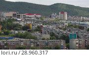 Летний вид на Петропавловск-Камчатский (2018 год). Редакционное видео, видеограф А. А. Пирагис / Фотобанк Лори
