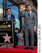 Купить «Chris Pratt Honored With A Star On The Hollywood Walk Of Fame Featuring: James Gunn, Chris Pratt Where: Hollywood, California, United States When: 21 Apr 2017 Credit: FayesVision/WENN.com», фото № 28964261, снято 21 апреля 2017 г. (c) age Fotostock / Фотобанк Лори