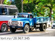 Купить «ZIL 130», фото № 28967345, снято 6 июня 2017 г. (c) Art Konovalov / Фотобанк Лори