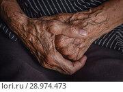 Руки старика. Стоковое фото, фотограф Nunik Varderesyan / Фотобанк Лори
