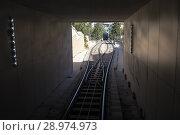 Купить «New funicular in Baku. Republic of Azerbaijan», фото № 28974973, снято 23 сентября 2015 г. (c) Евгений Ткачёв / Фотобанк Лори