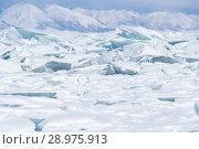 Купить «Ice of Lake Baikal», фото № 28975913, снято 2 марта 2017 г. (c) Юлия Белоусова / Фотобанк Лори