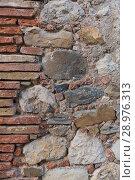 Купить «Old stone wal texture», фото № 28976313, снято 19 октября 2018 г. (c) Яков Филимонов / Фотобанк Лори