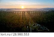 Купить «The Göltzsch Viaduct is the world's largest brick bridge, Vogtland, Saxony, Germany», фото № 28980553, снято 30 сентября 2017 г. (c) age Fotostock / Фотобанк Лори