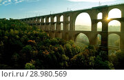 Купить «The Göltzsch Viaduct is the world's largest brick bridge, Vogtland, Saxony, Germany», фото № 28980569, снято 30 сентября 2017 г. (c) age Fotostock / Фотобанк Лори